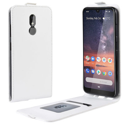 Nokia 3.2 hoesje, flipcase, wit