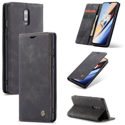 OnePlus 7 hoesje, CaseMe bookcase, zwart