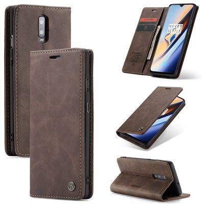 OnePlus 7 hoesje, CaseMe bookcase, donkerbruin
