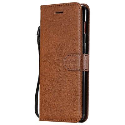 OnePlus 7 hoesje, 3-in-1 bookcase, bruin