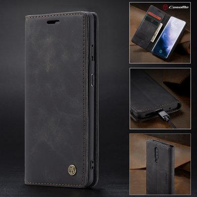 OnePlus 7 Pro hoesje, CaseMe bookcase, zwart