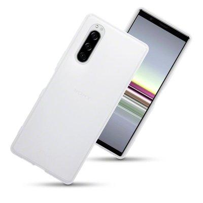 Sony Xperia 5 hoesje, gel case, mat doorzichtig