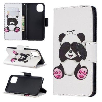 iPhone 11 Pro Max hoesje, 3-in-1 bookcase met print, zittende panda