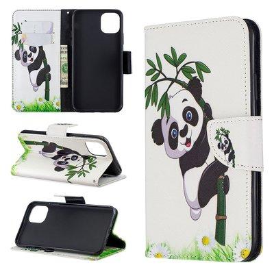 iPhone 11 Pro Max hoesje, 3-in-1 bookcase met print, bamboe panda