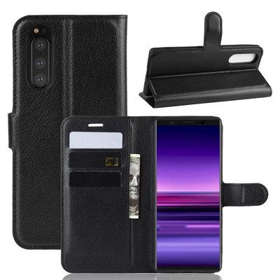 Sony Xperia 5 hoesje, 3-in-1 bookcase, zwart