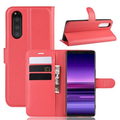 Sony Xperia 5 hoesje, 3-in-1 bookcase, rood