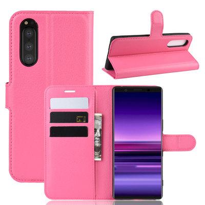 Sony Xperia 5 hoesje, 3-in-1 bookcase, roze