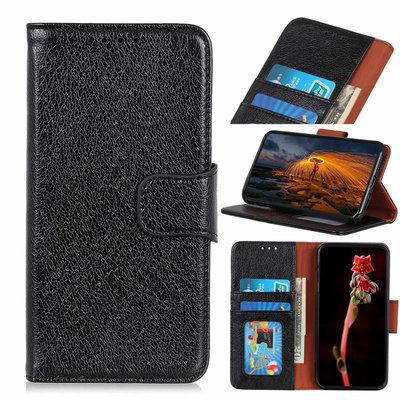Nokia 6.2 / Nokia 7.2 hoesje, 3-in-1 bookcase, zwart-bruin