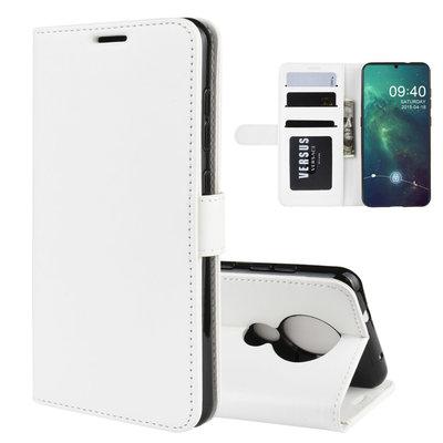 Nokia 6.2 / Nokia 7.2 hoesje, 3-in-1 bookcase, wit