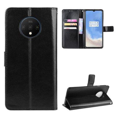 OnePlus 7T hoesje, 3-in-1 bookcase, zwart