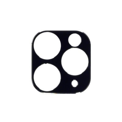 Apple iPhone 11 Pro / iPhone 11 Pro Max camera protector, Zwart met zilverkleurige randen