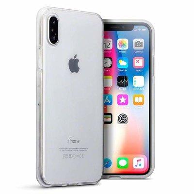 Apple iPhone X / iPhone XS hoesje, gel case, doorzichtig