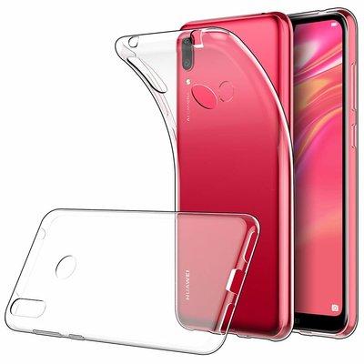 Huawei Y7 (2019) hoesje, Transparante gel case, Volledig doorzichtig