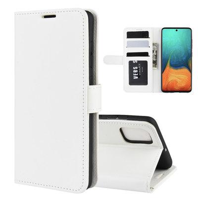 Samsung Galaxy A71 hoesje, Wallet bookcase, Wit
