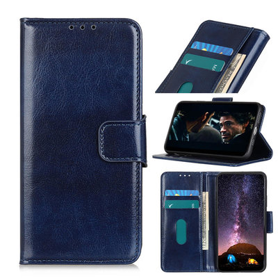 Samsung Galaxy S20 hoesje, Wallet bookcase, Blauw