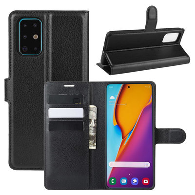 Samsung Galaxy S20 Plus (S20+) hoesje, Wallet bookcase, Zwart
