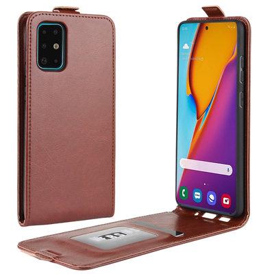 Samsung Galaxy S20 Plus (S20+) hoesje, Flipcase, Bruin