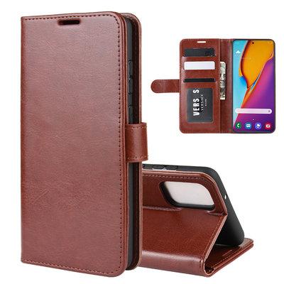 Samsung Galaxy S20 Plus (S20+) hoesje, Wallet bookcase, Bruin