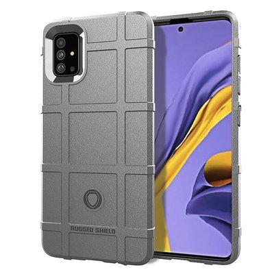 Samsung Galaxy A71 hoesje, Rugged shield TPU case, Grijs