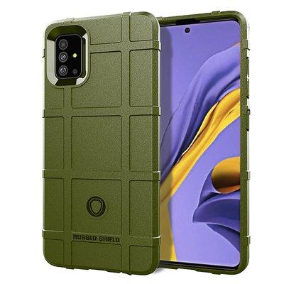 Samsung Galaxy A71 hoesje, Rugged shield TPU case, Groen