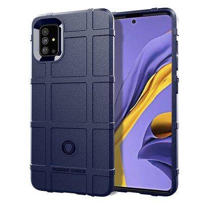 Samsung Galaxy A71 hoesje, Rugged shield TPU case, Blauw