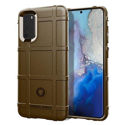 Samsung Galaxy S20 hoesje, Rugged shield TPU case, Bruin