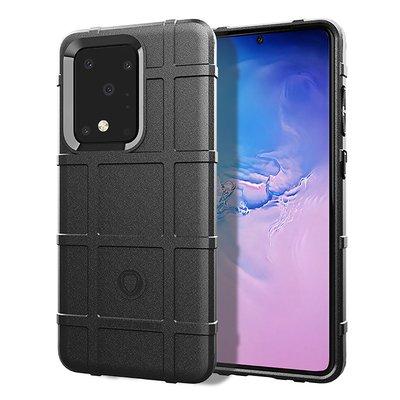 Samsung Galaxy S20 Ultra hoesje, Rugged shield TPU case, Zwart