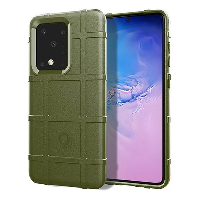 Samsung Galaxy S20 Ultra hoesje, Rugged shield TPU case, Groen