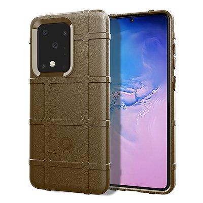 Samsung Galaxy S20 Ultra hoesje, Rugged shield TPU case, Bruin