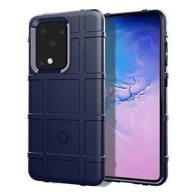 Samsung Galaxy S20 Ultra hoesje, Rugged shield TPU case, Blauw
