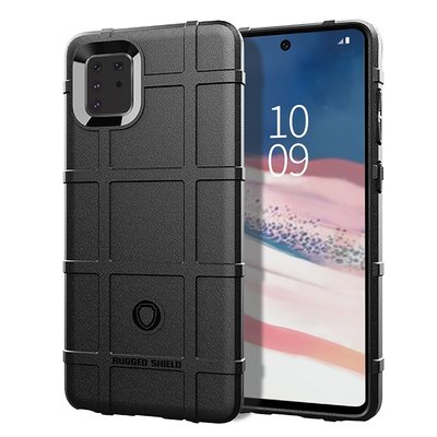 Samsung Galaxy Note 10 Lite hoesje, Rugged shield TPU case, Zwart