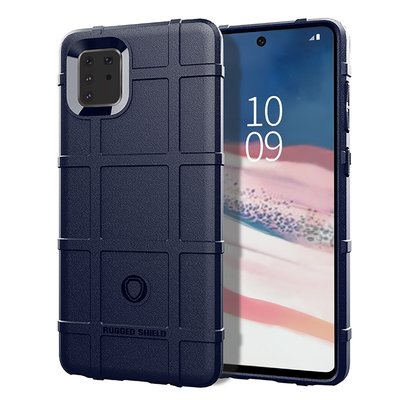Samsung Galaxy Note 10 Lite hoesje, Rugged shield TPU case, Blauw
