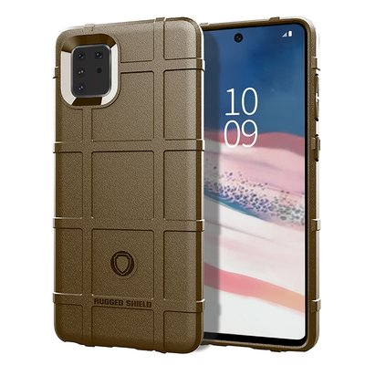 Samsung Galaxy Note 10 Lite hoesje, Rugged shield TPU case, Bruin