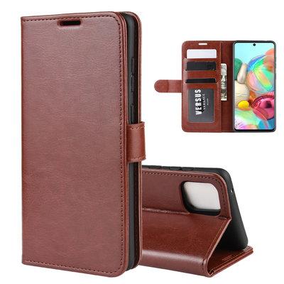Samsung Galaxy Note 10 Lite hoesje, Wallet bookcase, Bruin