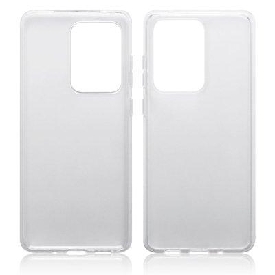 Samsung Galaxy S20 Ultra hoesje, Transparante gel case, Volledig doorzichtig