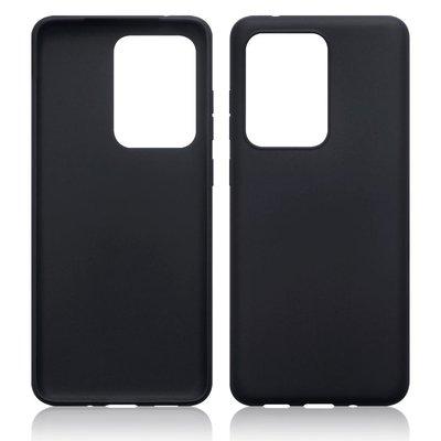 Samsung Galaxy S20 Ultra hoesje, Gel case, Mat zwart
