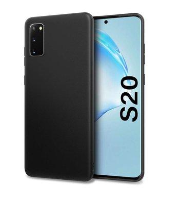 Samsung Galaxy S20 hoesje, Gel case, Mat zwart