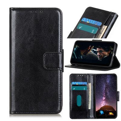 OnePlus 8 hoesje, Wallet bookcase, Zwart