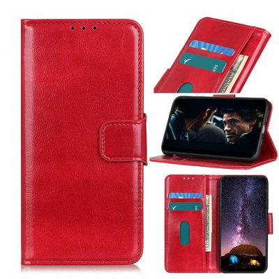 OnePlus 8 hoesje, Wallet bookcase, Rood