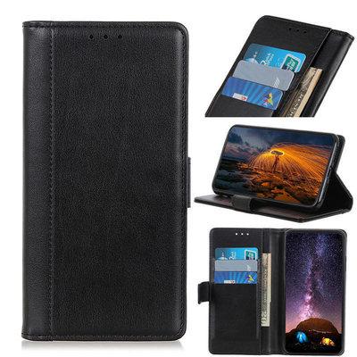 OnePlus 8 hoesje, Luxe wallet bookcase, Zwart