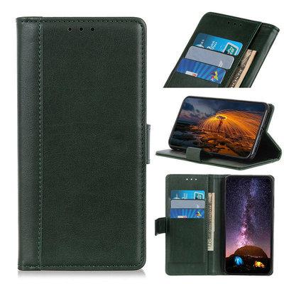 OnePlus 8 Pro hoesje, Luxe wallet bookcase, Donkergroen
