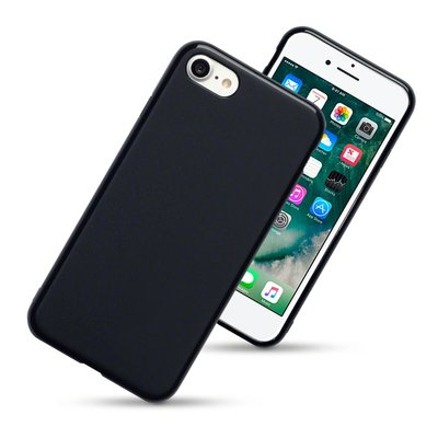 Apple iPhone SE (2020) / iPhone 7 / iPhone 8 hoesje, Gel case, Mat zwart