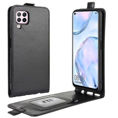 Huawei P40 Lite hoesje, Flipcase, Zwart