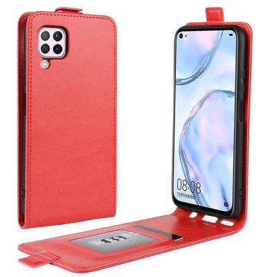 Huawei P40 Lite hoesje, Flipcase, Rood