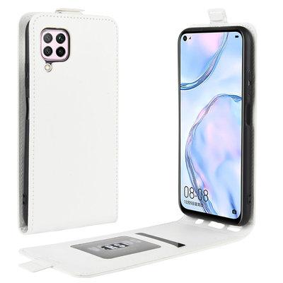 Huawei P40 Lite hoesje, Flipcase, wit