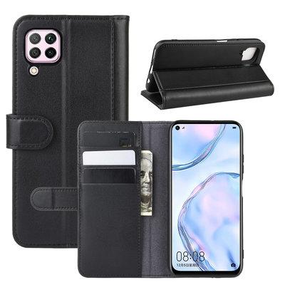 Huawei P40 Lite hoesje, Luxe wallet bookcase, Zwart