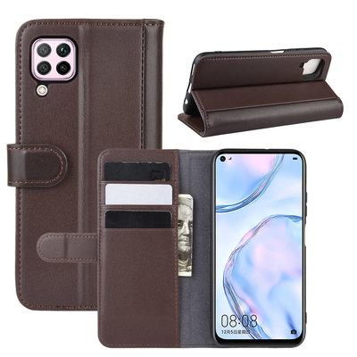 Huawei P40 Lite hoesje, Luxe wallet bookcase, Bruin
