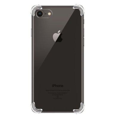 Apple iPhone SE (2020) / iPhone 7 / iPhone 8 hoesje, Transparante Shock proof gel case met verstevigde hoeken, Volledig doorzichtig