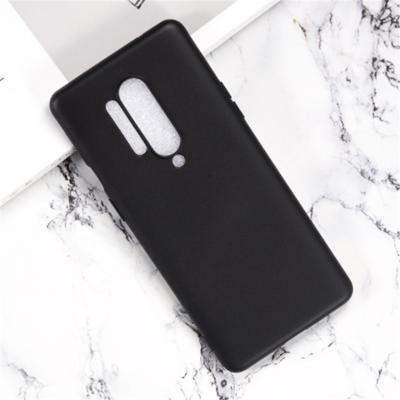 OnePlus 8 Pro hoesje, Gel case, Mat zwart