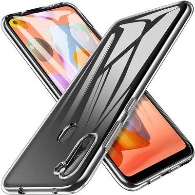 Samsung Galaxy M11 / A11 hoesje, Transparante gel case, Volledig doorzichtig